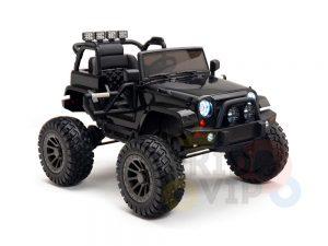 24v kids ride on truck lifted nitro rc kidsvip black 3