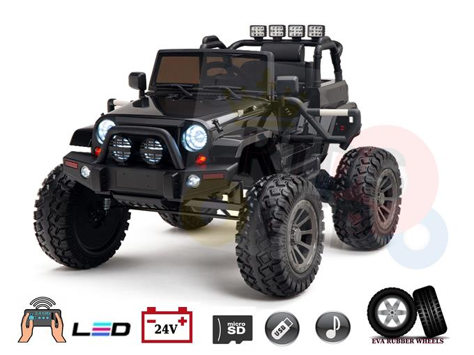 24V Viper 16″ Wheels Edition Kids and Toddlers Ride on Truck with RC