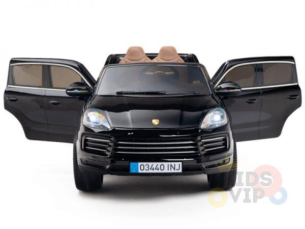 kidsvip porsche cayenne kids toddlers ride on car suv truc luxury black 19