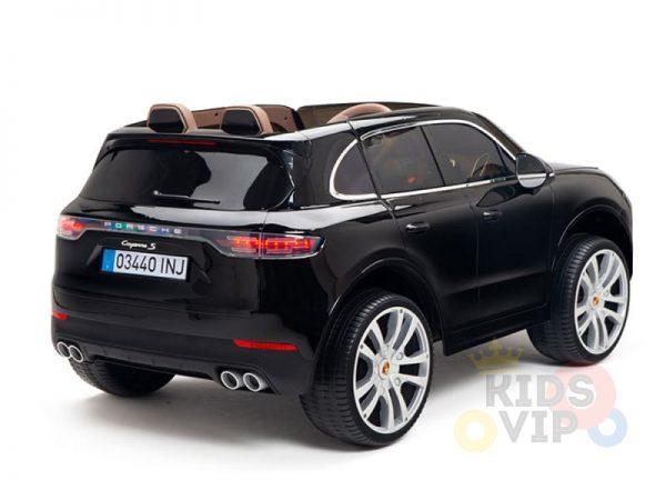 kidsvip porsche cayenne kids toddlers ride on car suv truc luxury black 20