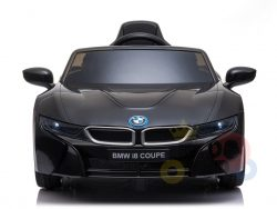 kids and toddlers bmw i8 ride on car 12v leather seat rubber wheels kids vip black 7