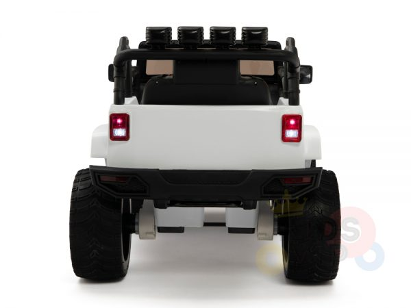 kidsvip 4x4 4wd kids and toddlers ride on jeep truck 12v rubber wheels leather seat white 11