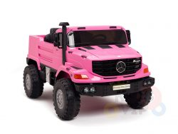 kidsvip zetros 24v kids ride on car 2 seater pink 1