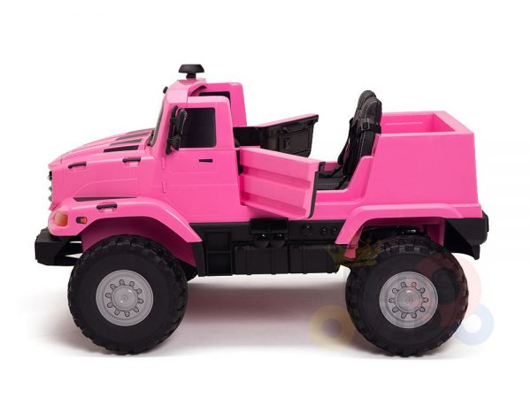 kidsvip zetros 24v kids ride on car 2 seater pink 24