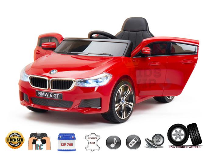 Officially Licensed BMW GT 12V Kids Ride On Power Car with Remote Control