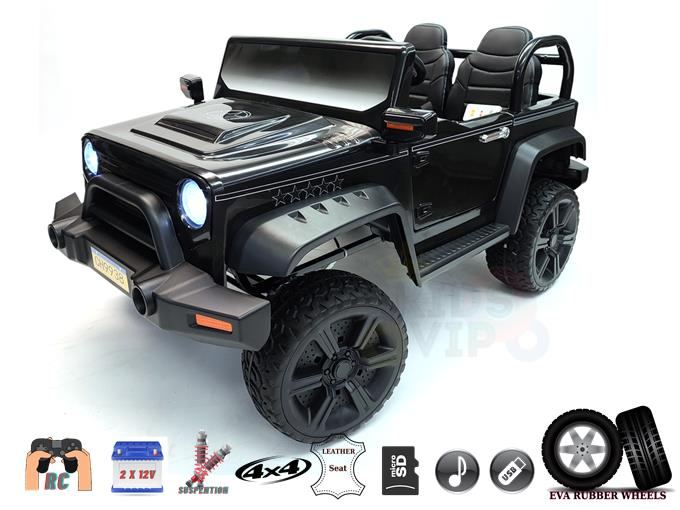 2 Seater 2X12V Extreme Ride-On Kids and Toddlers 4WD Truck with RC