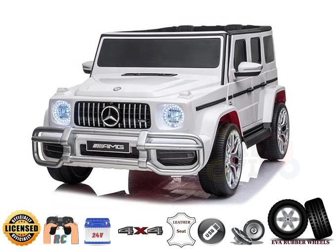 2 Seats 4×4 Official Mercedes Benz G63 Complete Edition 24V Kids Ride On Car with Rc