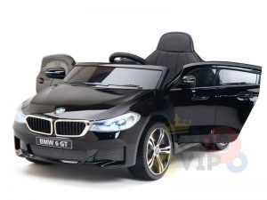 bmw gt kids and toddlers ride on car 12v rubber wheels leather seat blue 2 1
