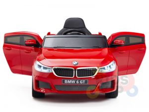 bmw gt kids and toddlers ride on car 12v rubber wheels leather seat red 10