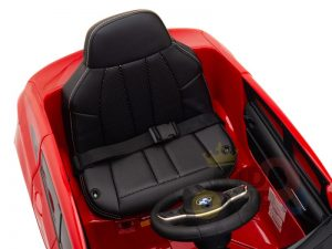 bmw gt kids and toddlers ride on car 12v rubber wheels leather seat red 11