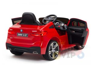 bmw gt kids and toddlers ride on car 12v rubber wheels leather seat red 14