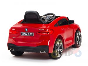 bmw gt kids and toddlers ride on car 12v rubber wheels leather seat red 15