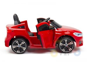bmw gt kids and toddlers ride on car 12v rubber wheels leather seat red 3