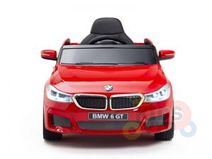 bmw gt kids and toddlers ride on car 12v rubber wheels leather seat red 5