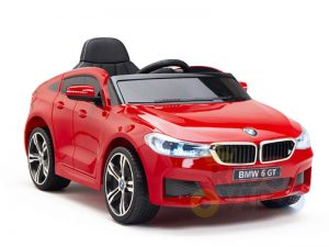 bmw gt kids and toddlers ride on car 12v rubber wheels leather seat red 6