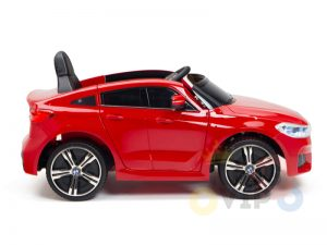 bmw gt kids and toddlers ride on car 12v rubber wheels leather seat red 8