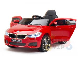 bmw gt kids and toddlers ride on car 12v rubber wheels leather seat red 9