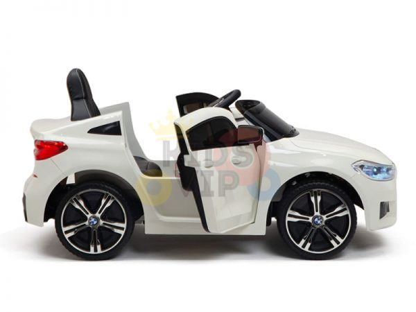 bmw gt kids and toddlers ride on car 12v rubber wheels leather seat white 1