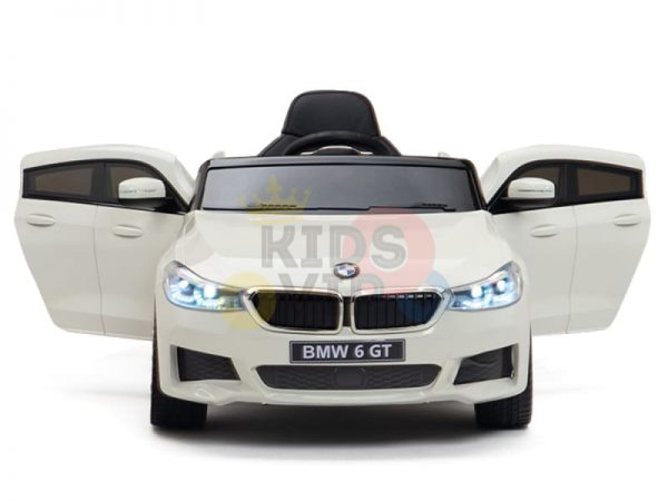 bmw gt kids and toddlers ride on car 12v rubber wheels leather seat white 20