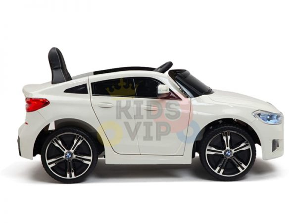 bmw gt kids and toddlers ride on car 12v rubber wheels leather seat white 22