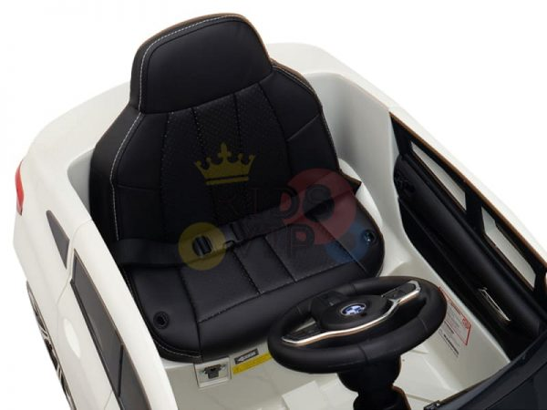 bmw gt kids and toddlers ride on car 12v rubber wheels leather seat white 27