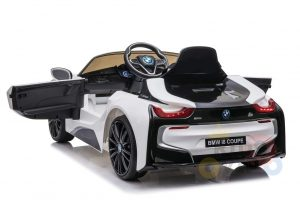 bmw i8 coupe kids and toddlers ride on car 12v remote kidsvip white 17