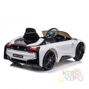 bmw i8 coupe kids and toddlers ride on car 12v remote kidsvip white 20