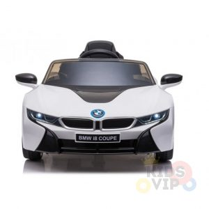 bmw i8 coupe kids and toddlers ride on car 12v remote kidsvip white 21