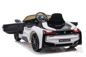 bmw i8 coupe kids and toddlers ride on car 12v remote kidsvip white 28