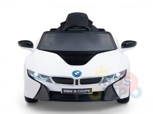 bmw i8 coupe kids and toddlers ride on car 12v remote kidsvip white 32