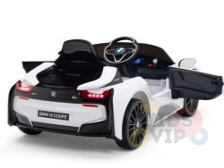 bmw i8 coupe kids and toddlers ride on car 12v remote kidsvip white 35