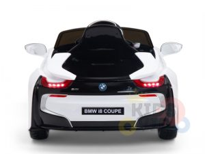 bmw i8 coupe kids and toddlers ride on car 12v remote kidsvip white 36