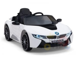 bmw i8 coupe kids and toddlers ride on car 12v remote kidsvip white 37