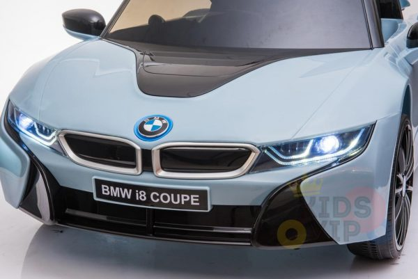 bmw i8 coupe kids and toddlers ride on car 12v remote kidsvip blue 25