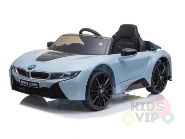 bmw i8 coupe kids and toddlers ride on car 12v remote kidsvip blue 37