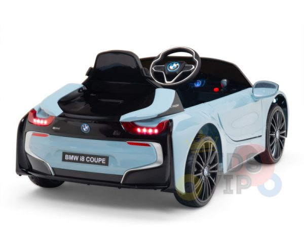bmw i8 coupe kids and toddlers ride on car 12v remote kidsvip blue 42