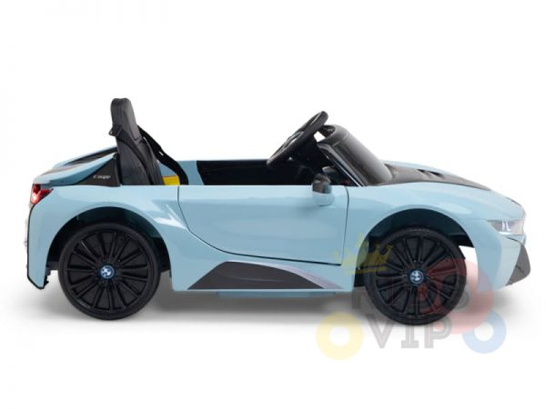 bmw i8 coupe kids and toddlers ride on car 12v remote kidsvip blue 45