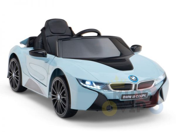 bmw i8 coupe kids and toddlers ride on car 12v remote kidsvip blue 49