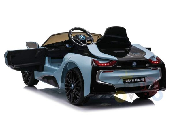 bmw i8 coupe kids and toddlers ride on car 12v remote kidsvip blue 51