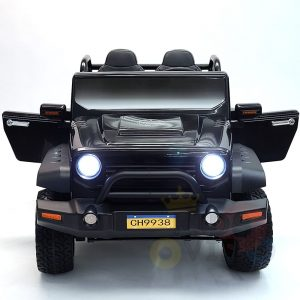 kidsvip 2 seater ride on truck 2 12v batteries kids and toddlers black 1