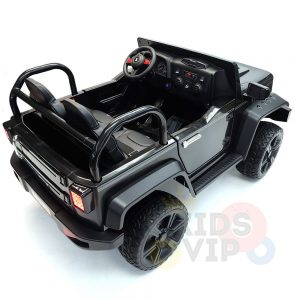 kidsvip 2 seater ride on truck 2 12v batteries kids and toddlers black 12