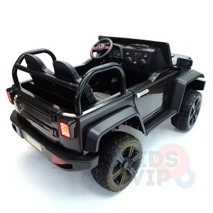 kidsvip 2 seater ride on truck 2 12v batteries kids and toddlers black 14