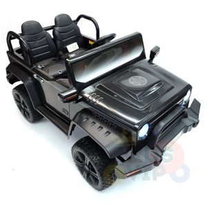 kidsvip 2 seater ride on truck 2 12v batteries kids and toddlers black 16