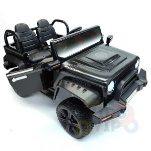 kidsvip 2 seater ride on truck 2 12v batteries kids and toddlers black 21