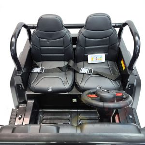 kidsvip 2 seater ride on truck 2 12v batteries kids and toddlers black 22