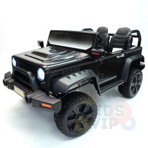kidsvip 2 seater ride on truck 2 12v batteries kids and toddlers black 3