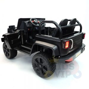 kidsvip 2 seater ride on truck 2 12v batteries kids and toddlers black 6