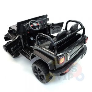 kidsvip 2 seater ride on truck 2 12v batteries kids and toddlers black 8