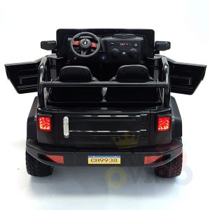 kidsvip 2 seater ride on truck 2 12v batteries kids and toddlers black 9