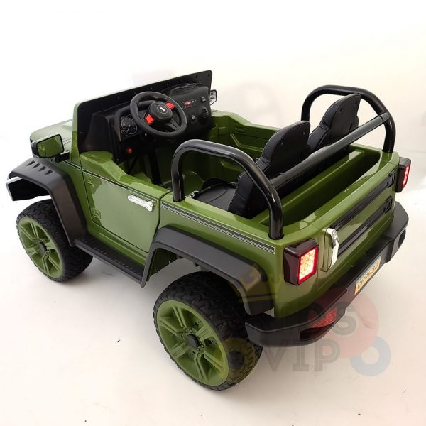 kidsvip 2 seater ride on truck 2 12v batteries kids and toddlers green 1